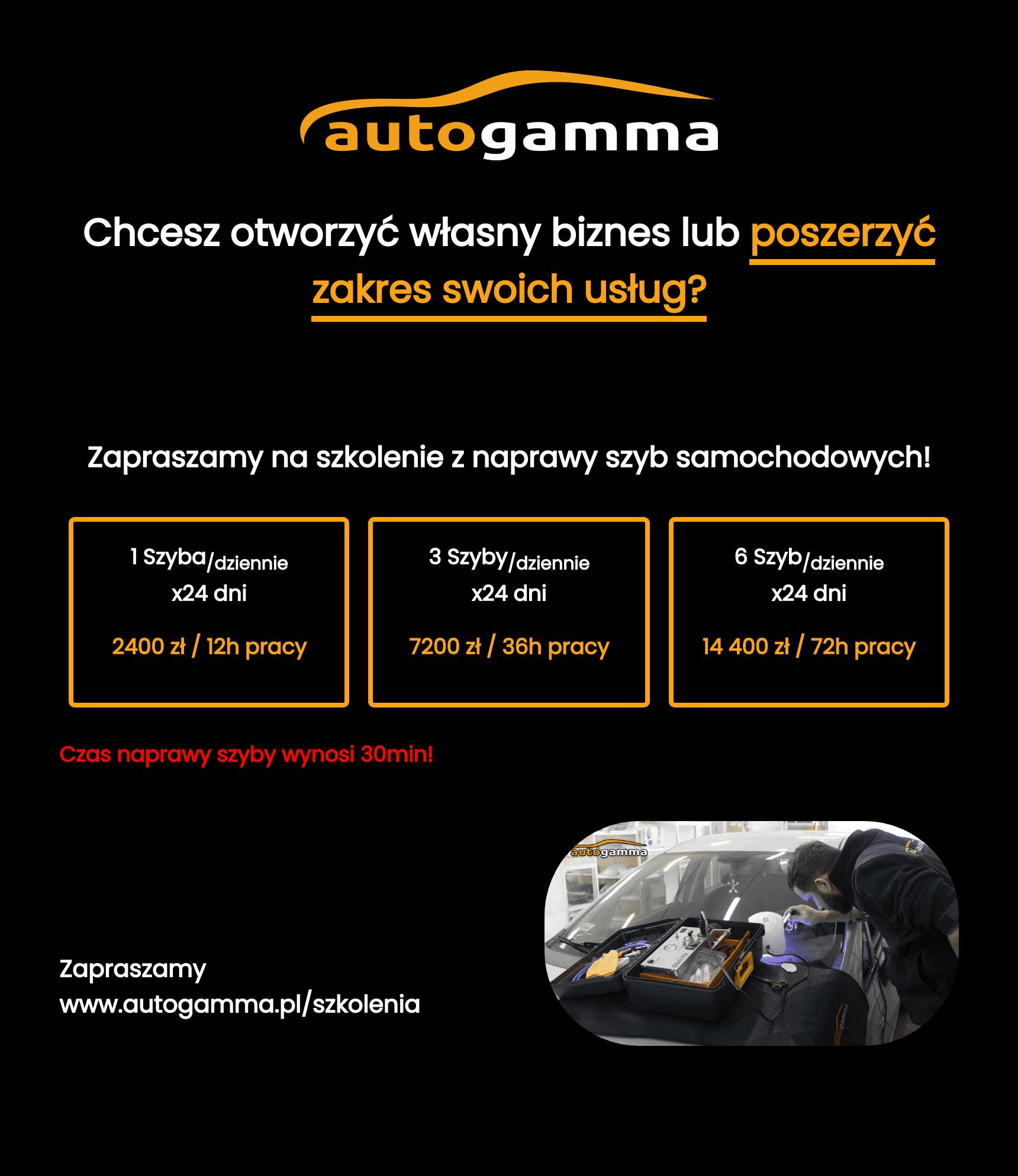 Szkolenia Auto Gamma ulotka